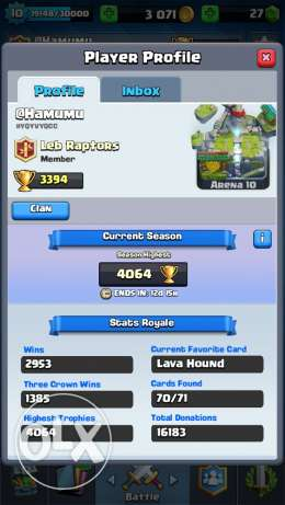 clash royal account (all cards)