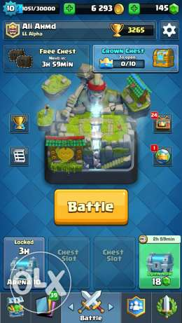 Clash Royal lal be3 8 legendery of 10 founds