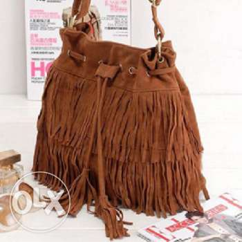 Suede fringe tassel handbag (3 photos - 3 colors) Free delivery