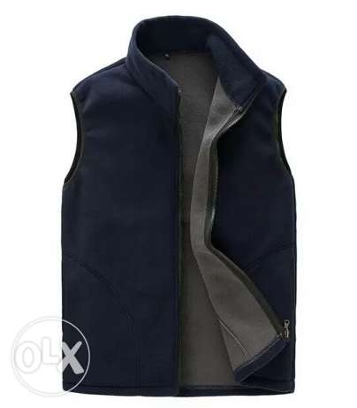 Men Sleeveless Jacket Spring Autumn Casual Fleece Vest Cotton-padded S