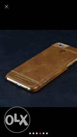 Cover geniune leather brown pierre cardin for iphone 7 plus