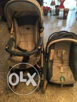 baby's stroller and car seat