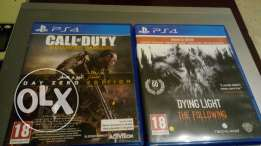 Ps4 games for sale Cod Advanced warfare - Dying light the following