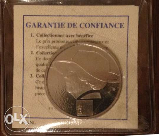 Netherland Medal Queen Beatrix 2005 with Certificate of Guarantee