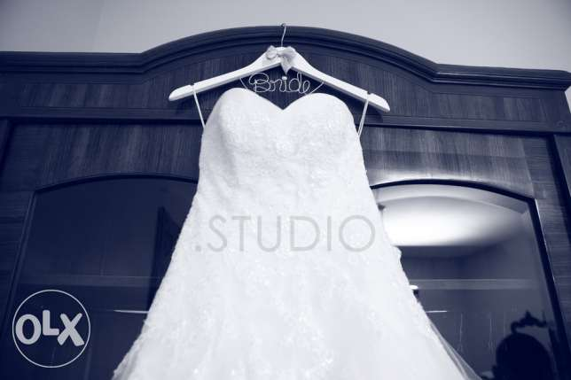 Designer Wedding Dress for Sale!! FREE evening dress included بعبدا -  5
