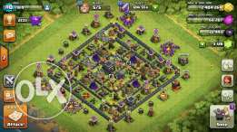 clash of clans th9 max+ change name+ link + 3140gems