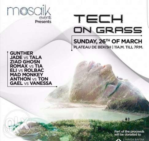 Tech on grass