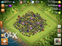 Clash of clans, 1200+ gems lvl 115 TH9 MAX. More info in description.