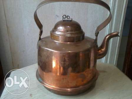 Old Jug, red copper, 60-80 years, hand made from Germany,