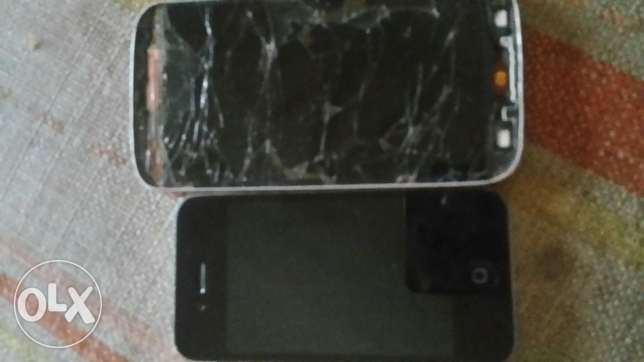 Iphone 4 and s4 s4 needs screen and iphone need battery
