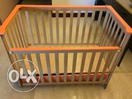 Baby cot bed with drawer + Baby changing station + Chicco Mia bouncer