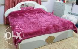 King size bed, dressoir with mirror, bed side cabinet x 2, cabinet
