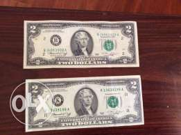 Two Dollars Bills (2 USD)