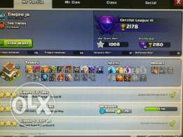 Clash of clans max th8 with 4300 gems