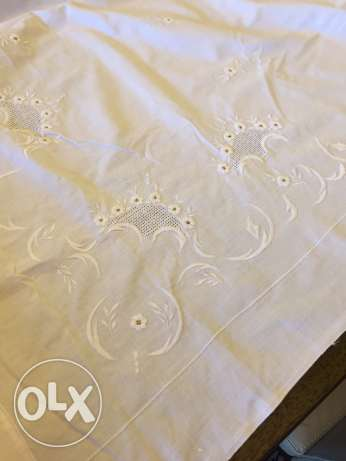 nappe carree 230cm brodee