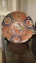 Very old ocer than 100 year Porcolan dish with design. صحن اثري قديم