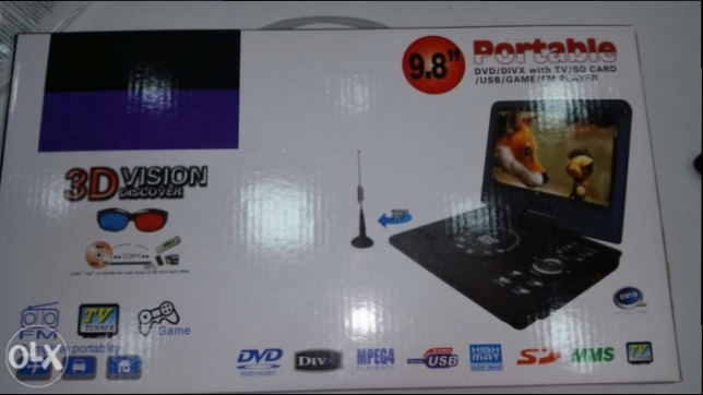 Portable DVD !!! gaming and fm player !! for loweer price !!