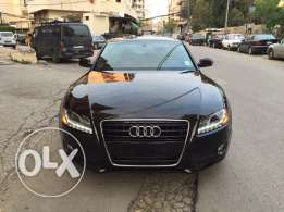 Audi A5 Quatro sport model 2010 color black in brown