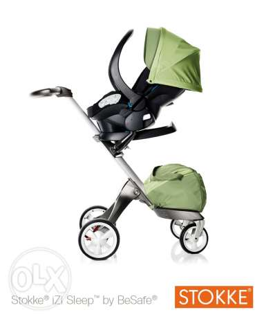 stokke stroller with car seat