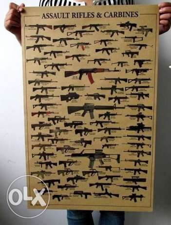 Wallpaper Poster RIFLES&CARBINES