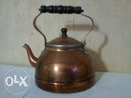 Old big Teapot, red copper, hand made, from germany, 17$