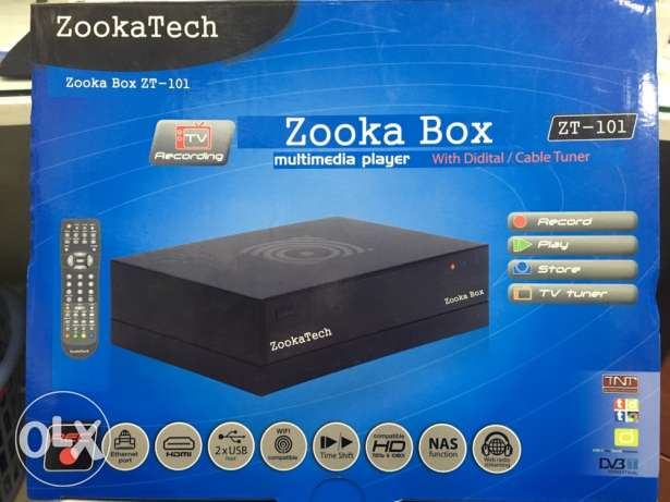 Zooka box recorder multimedia player with hdd 80 gb can be use as DVR