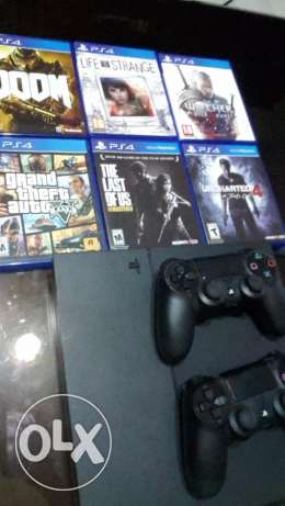 ps4(2 controllers)+6 games!!! all barely used and in amazing condition