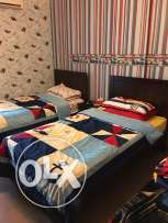2 beds 110cm each with mattresses