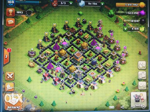 Clash of clans max th8