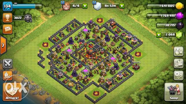 clash of clan base for sale
