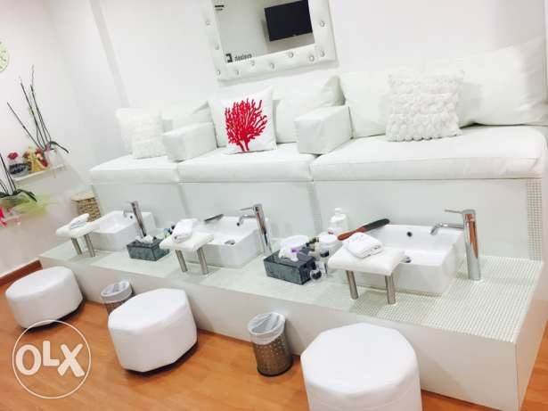 pedicure seats for a nail spa