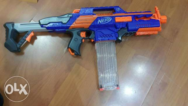4 nerf blasters great condition with boxes Nerd guns