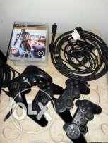 Excellent conditions Playstation 3 with 5 games and 4 controllers