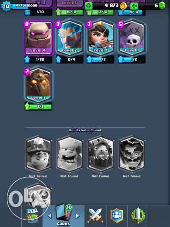 clash royal account lv 10 for sale