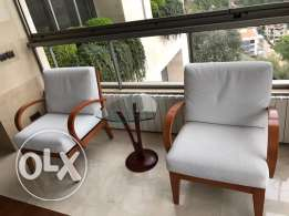 Twin Armchairs with Table