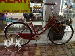 Beautiful red bicycle