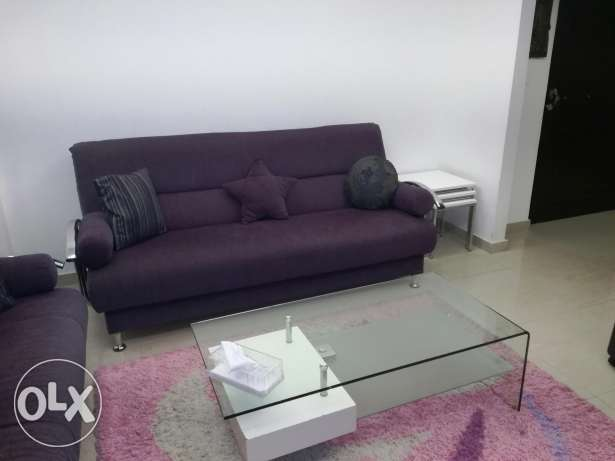 Living room 2big sofa+2small+table+tv unit+carpet+lamp1500$ negociable
