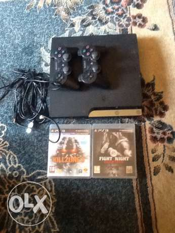ps3 + 3 cd + 2 controle