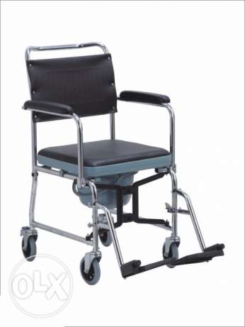 Foldable Commode Wheelchair