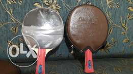 Ping pong racket (2) with covers