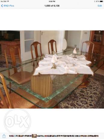 Full dining room set - made by Boisselier du Riff