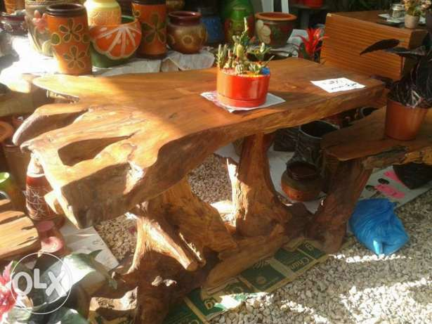 original wood tables (with 2 benches) imported