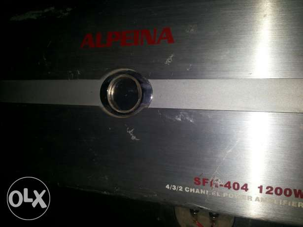 Original box bazouka music + Power alpeina 1200w الشوف -  2