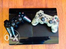 PS3 500 GB as NEW with 18 games for Sale 225$