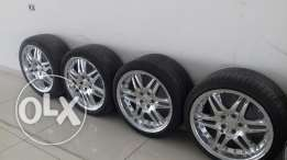 4- Mercedes Chrome rims on tires for C or E -class W204 or W212 - W210