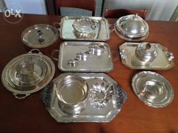 Silver coated set for sale in good condition