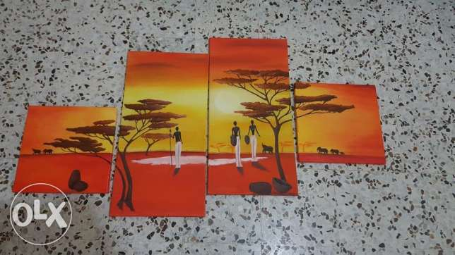 painting - african sun