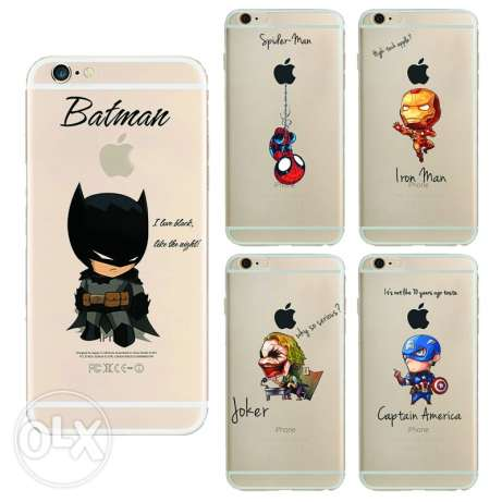 Iphone 7 cover - transparent selicon - Marvel superheros