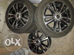 4 jant 16inch & 2 tyre 205/55/r16 Whees