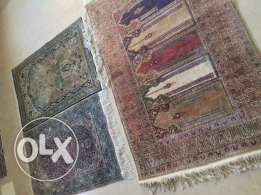 Silk rugs antique